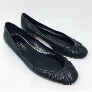 Loeffer Randall Black Leather Ballet Flats Shoes